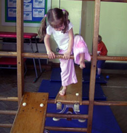 Picture of pre-school gymnastics