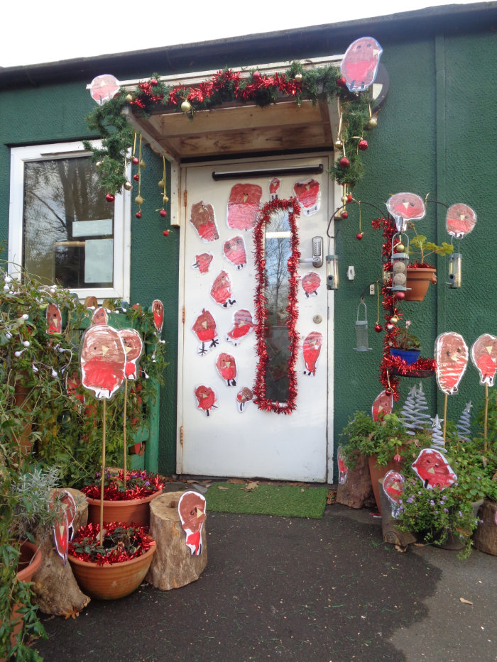 Front door at Chewton Common Playgroup