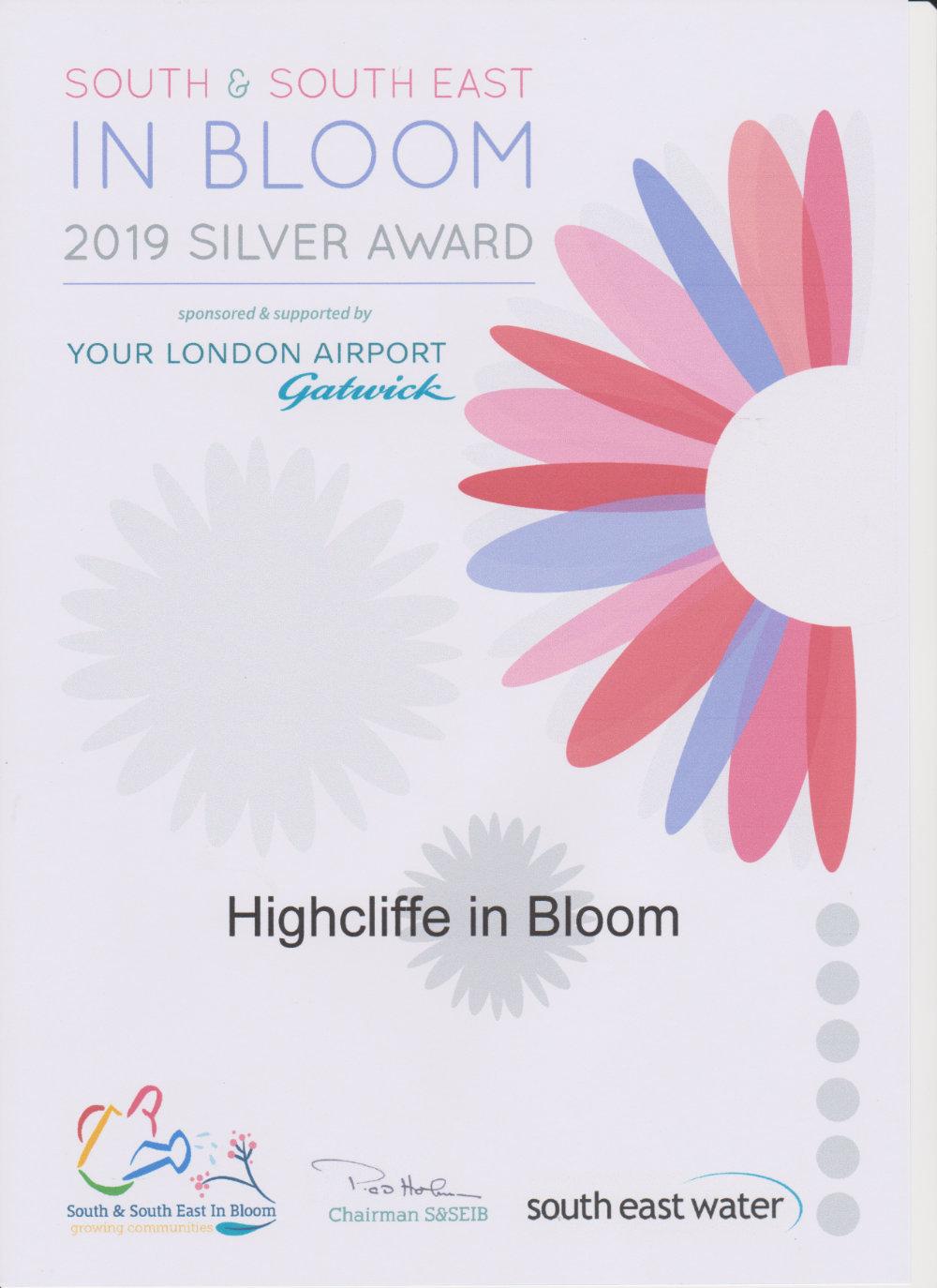 Silver Award certificate