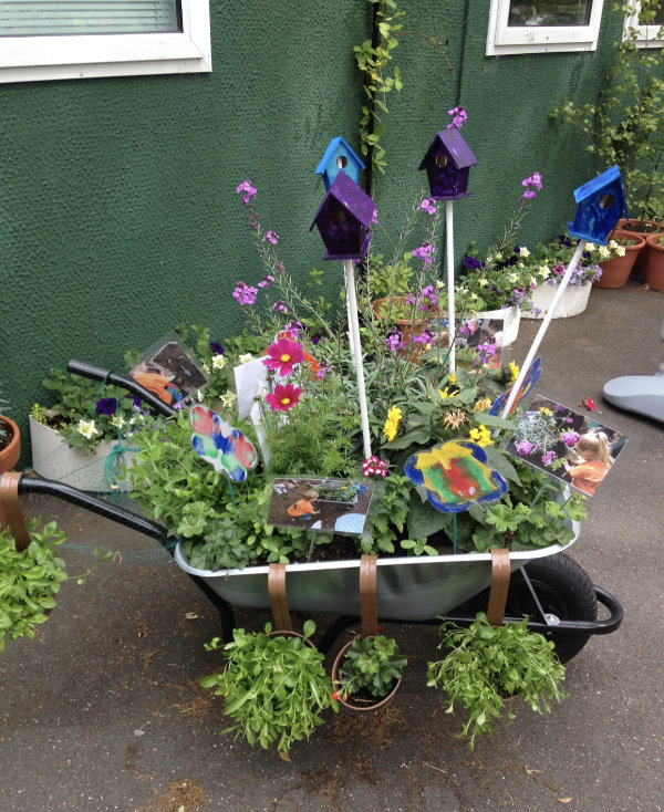 Planted wheebarrow for Wonderful Wheelbarrow Competition